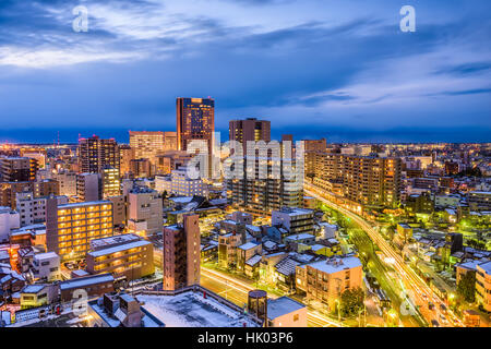 Kanazawa, Giappone downtown skyline della citta'. Foto Stock