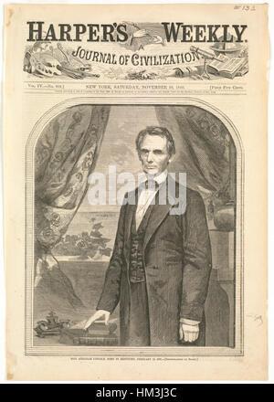 L'on. Abraham Lincoln, nato nel Kentucky, 12 febbraio 1809 (Boston Public Library) Foto Stock