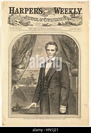 Winslow Homer - l'on. Abraham Lincoln, nato nel Kentucky, 12 Febbraio 1809 Foto Stock