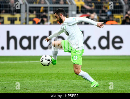 Signal Iduna Park, Dortmund, Germania. 18 Febbraio, 2017. Il calcio tedesco Bundesliga stagione 2016/17, giornata Foto Stock