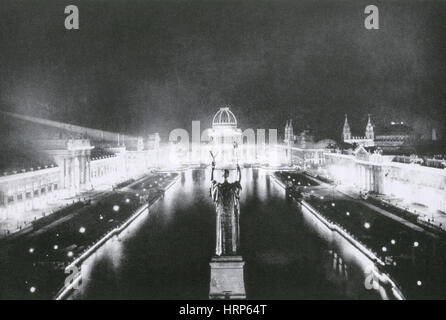 Columbian Exposition, Corte d'onore, 1893 Foto Stock