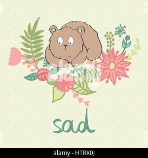 Vector cartoon bear Foto Stock