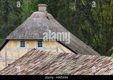 Danimarca, nello Jutland, Aarhus, Den Gamle By, ricostruire città vecchia, a struttura mista in legno e muratura Foto Stock