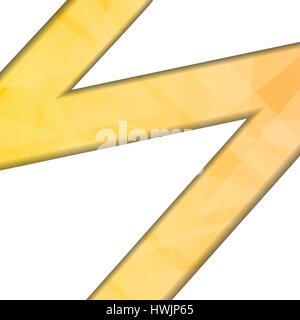 Vettore : forme astratte su sfondo arancione Foto Stock