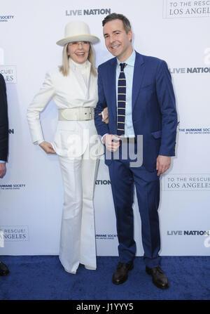 Los Angeles, Stati Uniti d'America. 22 apr, 2017. Diane Keaton. La Humane Society degli Stati Uniti la beneficio Foto Stock