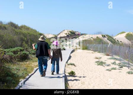 Stati Uniti d'America, in California. Oso Flaco parco statale, parte dell Oceano Dune SVRA (stato veicolare Area Foto Stock