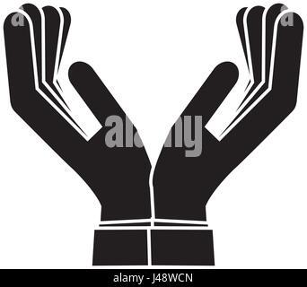 Le mani umane icona Foto Stock