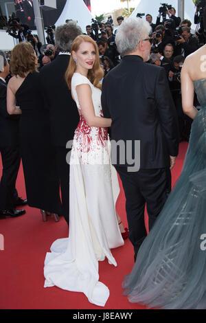 Cannes, Francia. 28 Maggio, 2017. CANNES, Francia. 28 maggio 2017: Jessica Chastain al gala di chiusura per il settantesimo Foto Stock