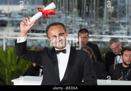 """Cannes, Francia. 28 Maggio, 2017. Direttore ANDREY ZVYAGINTSEV per il film """"Loveless', che ha vinto il Premio della Foto Stock"""