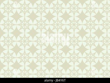 Due 4 stelle angolo di luce sul cerchio verde seamless pattern in stile vintage Foto Stock