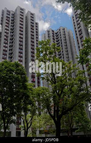 L'alloggio affollato di Hong Kong Foto Stock