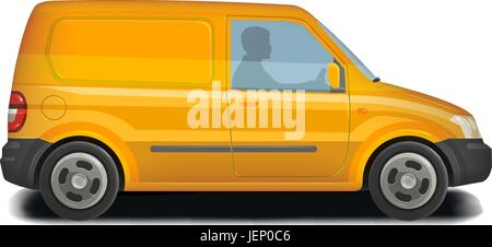 Auto, veicolo minivan icona. Consegna, trasporto merci, Trasporti, Traffico concetto. Illustrazione Vettoriale Foto Stock