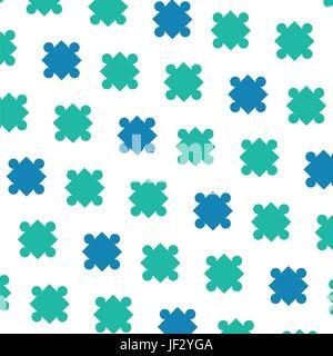 I pezzi del puzzle sullo sfondo Foto Stock