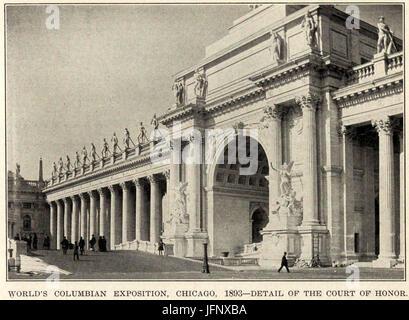 345la corte d onore al mondo 1893 s Columbian Exposition, 1893 D180. Chicago Foto Stock