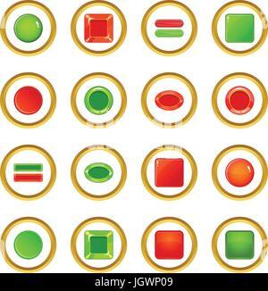 Vuoto pulsanti web icone cerchio Foto Stock