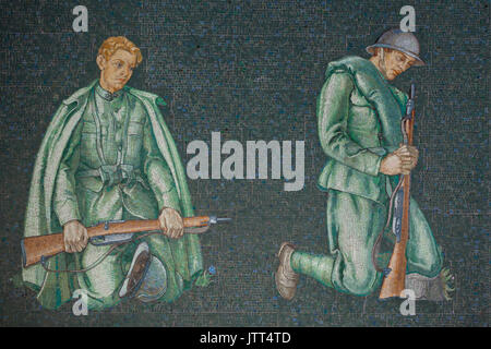 In lutto per i militari italiani. Mosaico dopo la progettazione dell'artista italiano Pietro Dodero nella Prima Foto Stock