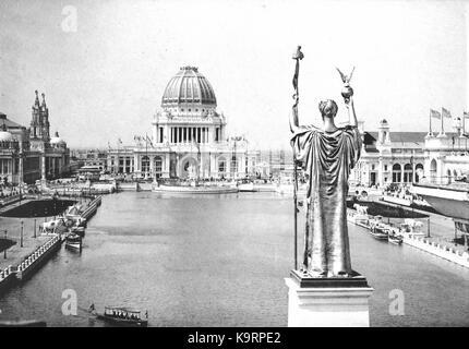 Corte d onore al World's Columbian Exposition nel 1893 Foto Stock