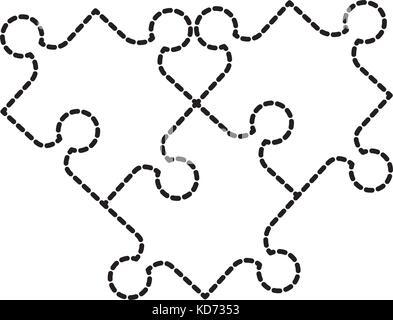 Puzzle jigsaw pezzi giocattolo gioco di collegamento Foto Stock