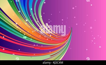Abstract colorato di rosa e viola sfondo con elemento di curva, diretto il fascio di linee Foto Stock