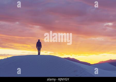 Tenda in bianco dune, Stati Uniti d'America Foto Stock