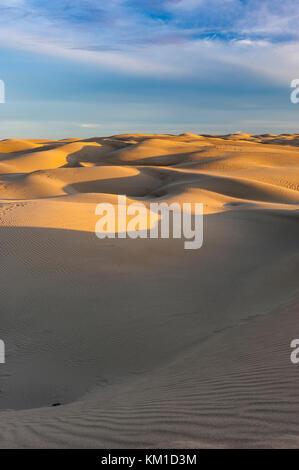 Le dune di sabbia in Oceano Dunes State Vehicular Recreation Area, Oceano dune naturali preservare, costa della Foto Stock