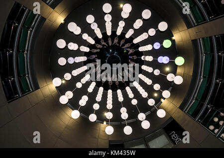 West Quay southampton ingresso illuminazione torre del display Foto Stock