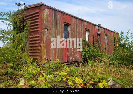 Carrello ricoperta presso la Oregon elettrica ferroviaria Museum, grande Oregon Steam-Up, antichi Powerland, Brooks, Foto Stock