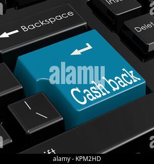 Cash back concetto. 3D Render. Foto Stock