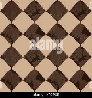 Seamless pattern con il rombo e volute Foto Stock