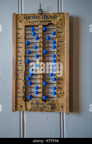 Memo-cordone un antica cucina promemoria che assomiglia ad un abaco nel modo in cui esso utilizza i talloni che Foto Stock