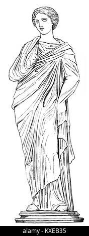 Mnemosyne, la personificazione della memoria nella mitologia greca Foto Stock