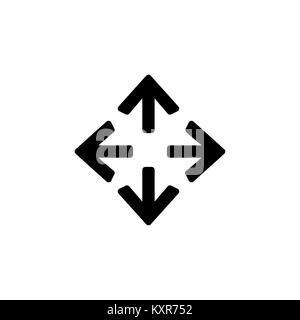 Le frecce icona per semplice piatto stile design dell'interfaccia utente. Foto Stock