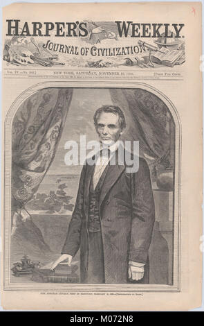 L'on. Abraham Lincoln, nato nel Kentucky, 12 febbraio 1809 (Harper's Weekly, Vol. IV) SODDISFATTE DP875205 Foto Stock