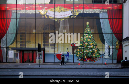 Natale a coutts bank in the strand Londra Foto Stock
