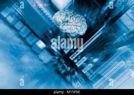 Intelligenza artificiale, immagine concettuale. Foto Stock