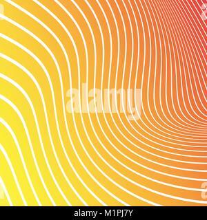 Abstract giallo, arancione, rosso sfondo con linee bianche. Illustrazione Vettoriale. Foto Stock