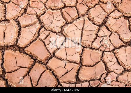 Asciugare argilla del suolo in Lanzarote Foto Stock