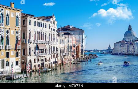 Grand Canal, Venezia, Italia Foto Stock