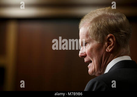 Washington, Stati Uniti d'America. 07Th Mar, 2018. Stati Uniti il senatore Bill Nelson, democratici della Florida, Foto Stock