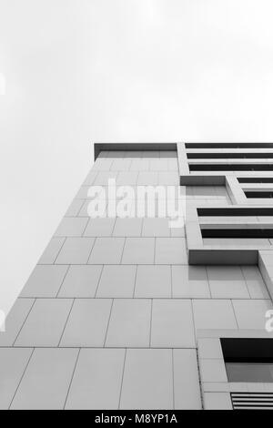 Berlino, Germania, 13 marzo 2018. Architettura tedesca in bianco e nero. Foto Stock