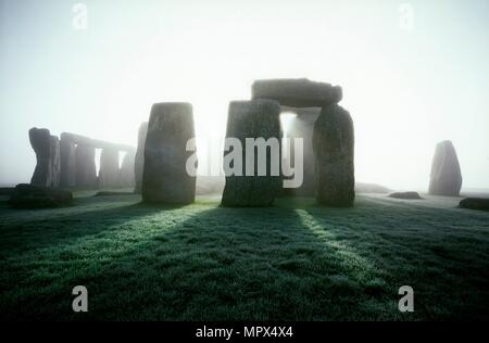 Stonehenge, Wiltshire, 2004. Artista: James O Davies. Foto Stock