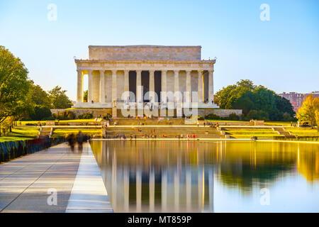 Il Lincoln Memorial a Washington DC Foto Stock
