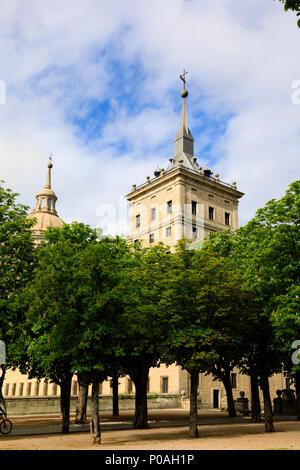 El Escorial Monastero, San Lorenzo, Madrid, Spagna. Maggio 2018 Foto Stock