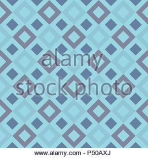 Rombo blu geometrico modello senza giunture Foto Stock