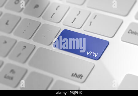 VPN   pulsante sulla tastiera del computer. Il rendering 3D Foto Stock