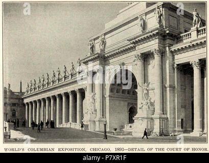 345la corte d onore al mondo 1893‥99s Columbian Exposition, 1893 р. Chicago. Foto Stock