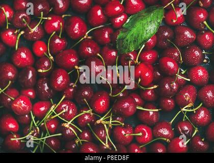 Dolci fresche texture di ciliegio, carta da parati e lo sfondo Foto Stock