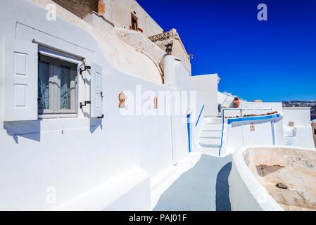 Santorini, Grecia - Akrotiri antica città a Thira, Cicladi in isole greche. Foto Stock