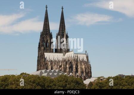 Blick auf den Kölner Dom in der Altstadt von Köln Foto Stock