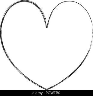 Grunge cuore di bellezza romanticismo stile simbolo Foto Stock